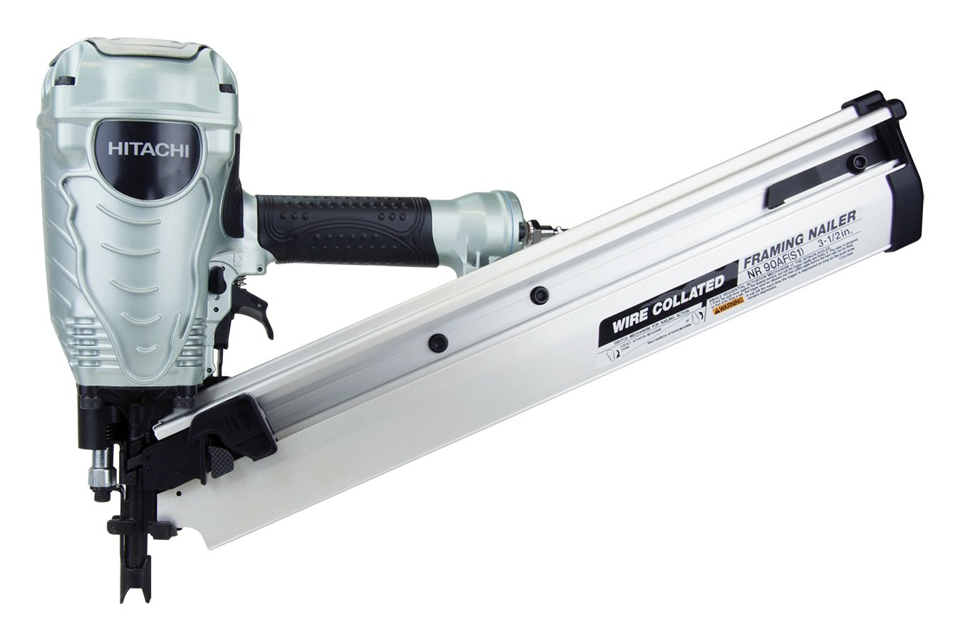 Hitachi NR90AFS1 2-Inch to 3-1/2-Inch Wire Weld Collated Framing ...