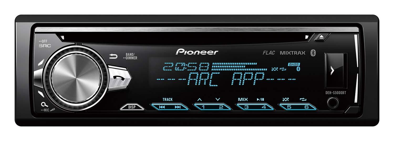 1 DIN Negro USB y AUX de Entrada para Apple iPod//iPhone de Control Directo Pioneer DEH-S5000BT Sintonizador de CD con Bluetooth