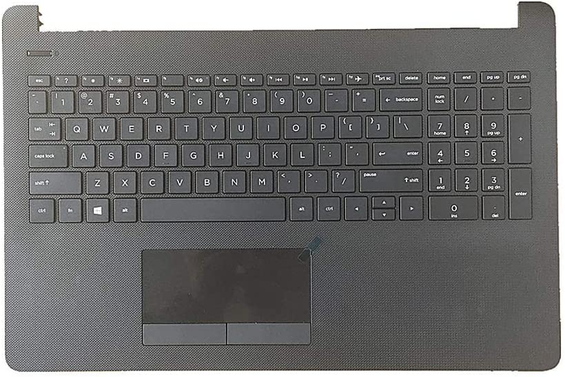 """Replacement for HP 15-BS 15-BW 15-BS020WM 250 255 G6 11.6"""" Laptop Upper Case Palmrest Keyboard Touchpad Assembly Part 925008-001 AP204000E00"""