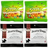 Gimbal's Gourmet Candies - Variety 4 Pack - 2 Bags Sour Jelly Beans, 2 Bags Scottie Dogs Licorice