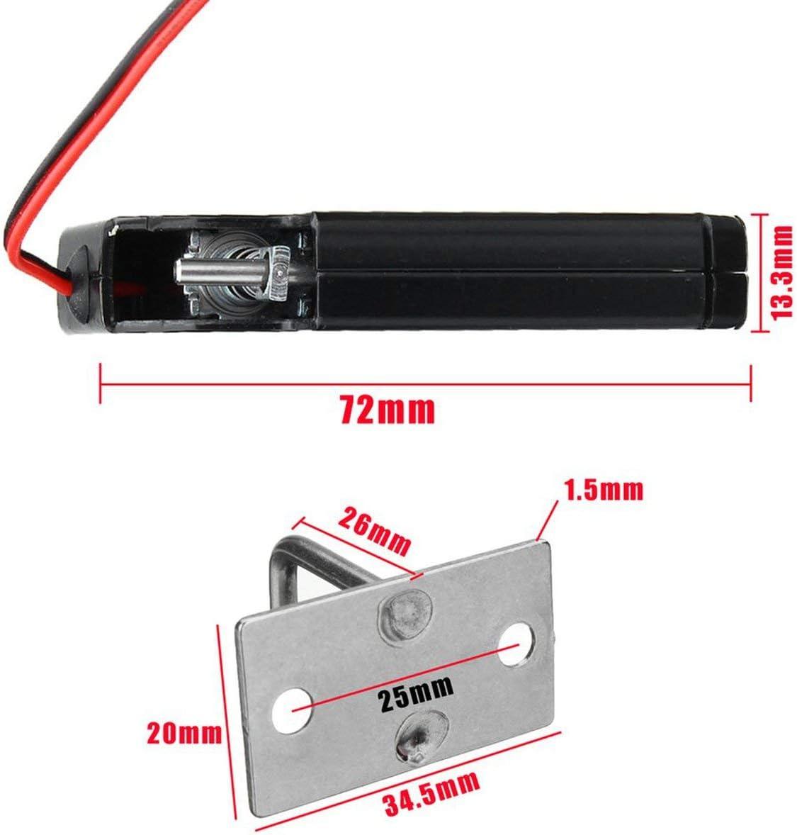 330lb /Électrique Serrure Magn/étique Contr/ôle Dacc/ès De Porte DC 12V Cabinet Tiroir Serrure /Électromagn/étique avec D/éverrouillage Durgence-noir BCVBFGCXVB 150KG