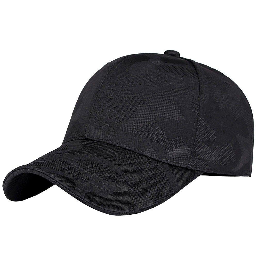 DDKK Unisex Men Women Camouflage Baseball Cap Snapback Hat Hip-Hop Adjustable Caps-Closed Plain Blank Solid Color