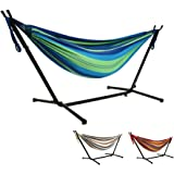 Goutime 9Ft Double Hammock with Detachable Stand Includes Portable Carrying Bag 450 lb Capacity