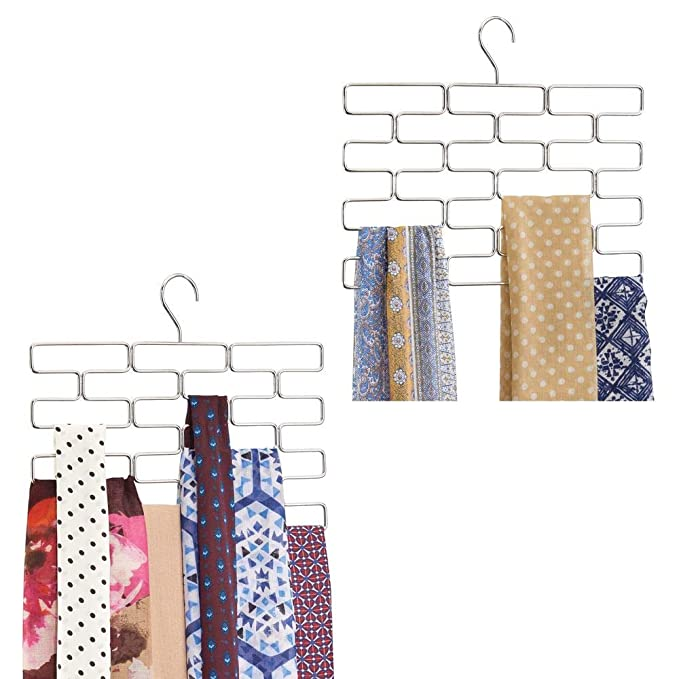Amazon.com: mDesign Tiered bufanda Hanging Organizador para ...
