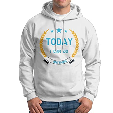 Amazoncom Tqusij Mens Long Sleeved Sweater Today I Can Do