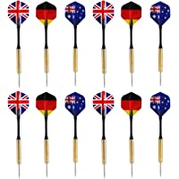 Leorx 12 verpakkingen stalen darts, nationale vlag, flights, stalen darts