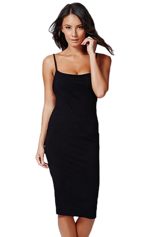 8Colours Damen Trägerkleid Elegant Midi Ärmellos Kleider Cocktail ...