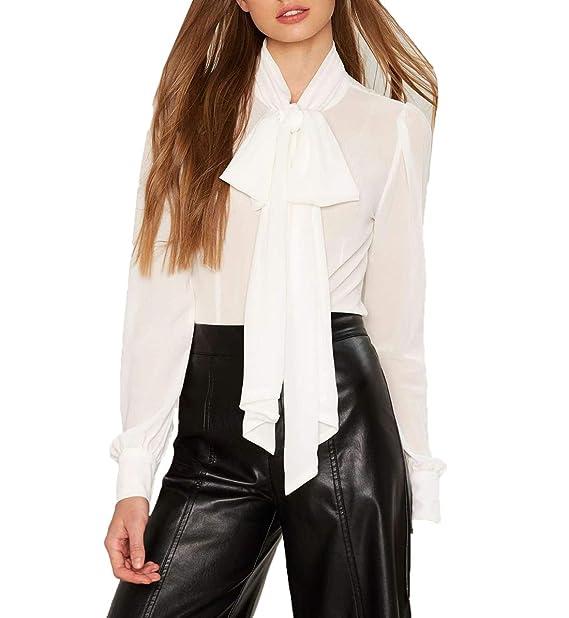 Farfalla Manica Camicie Cravatta A Maglie Con Moda Donna Lunga dBerCQWox