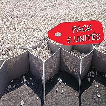 Pack 5 - 50m2 - Stabilisateur de Gravier 5cm Hauteur (10x10cm ...
