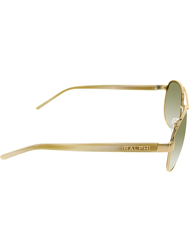 58ba549dd8 Amazon.com  Ralph By Ralph Lauren RL-RA4004 - 101 13 Gold and Cream with  Brown Gradient Lenses Women s Sunglasses  Ralph Lauren  Clothing