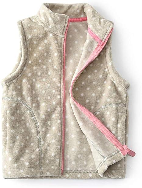 Vinesen Baby to Toddler Girls Boys Fleece Vests Unisex Infants Sleeveless Waistcoat Fall Winter Spring