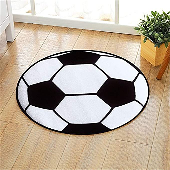 Makwes Alfombra Redonda de 60 cm para el fútbol, para el salón ...