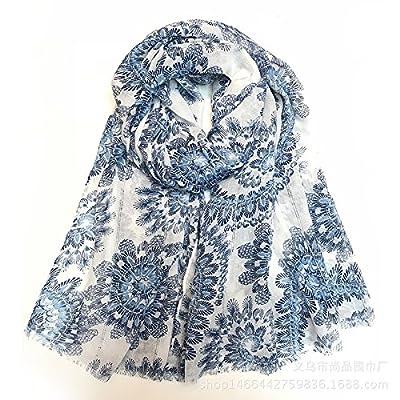 La plaine cou foulard en soie de la peau douce, Dayily_ Foulards Foulards faits à la main Fleurs de cajou, Dayily Split doit être Dayily Echarpes