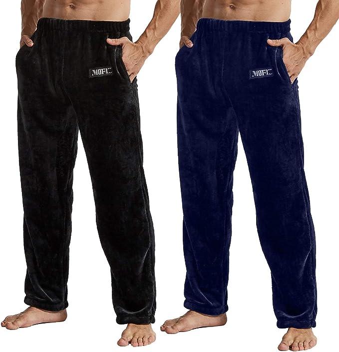 JINSHI Pantalones Largos de Pijama Hombre Blando Vestido de Casa Elástico Ropa Cálida de Dormir Invierno: Amazon.es: Ropa y accesorios