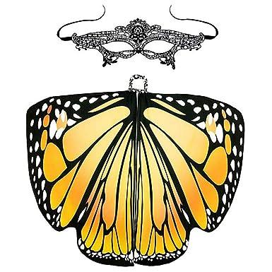 Amazon.com: SAKAMU- Mujer Mariposa Alas Shawl Hada Mujer ...