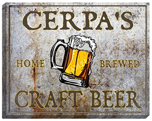 cerpas-craft-beer-stretched-canvas-sign-24-x-30
