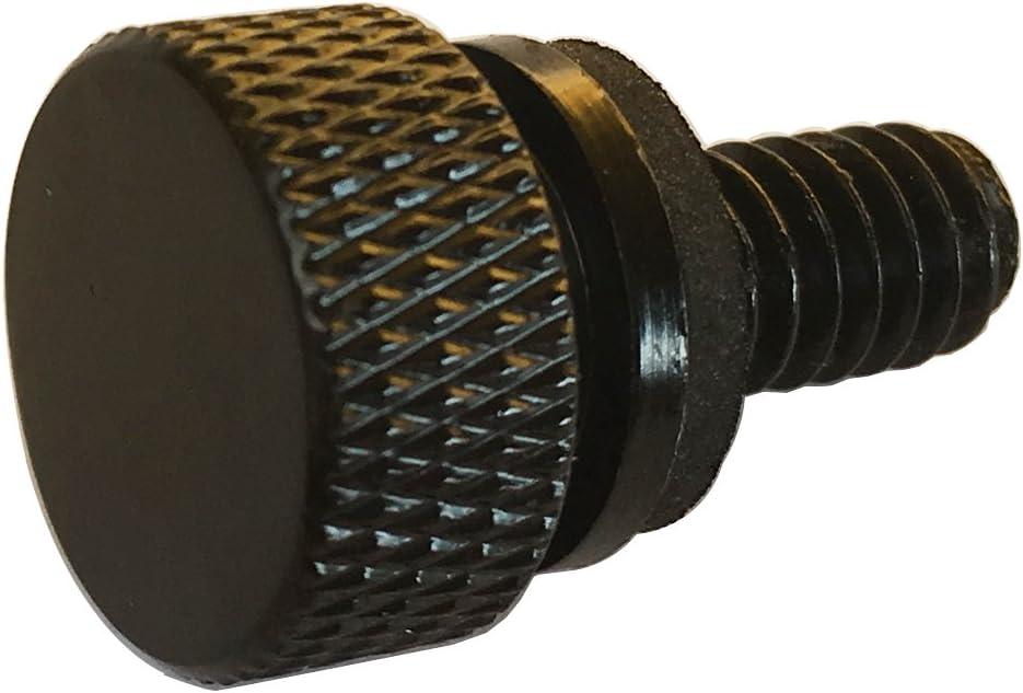 Amazicha Black Aluminum Seat Bolt Quick Mount Seat Screw 1//4-20 Thread Hard Anodized Screw Compatible for Harley Davidson 1996-2019