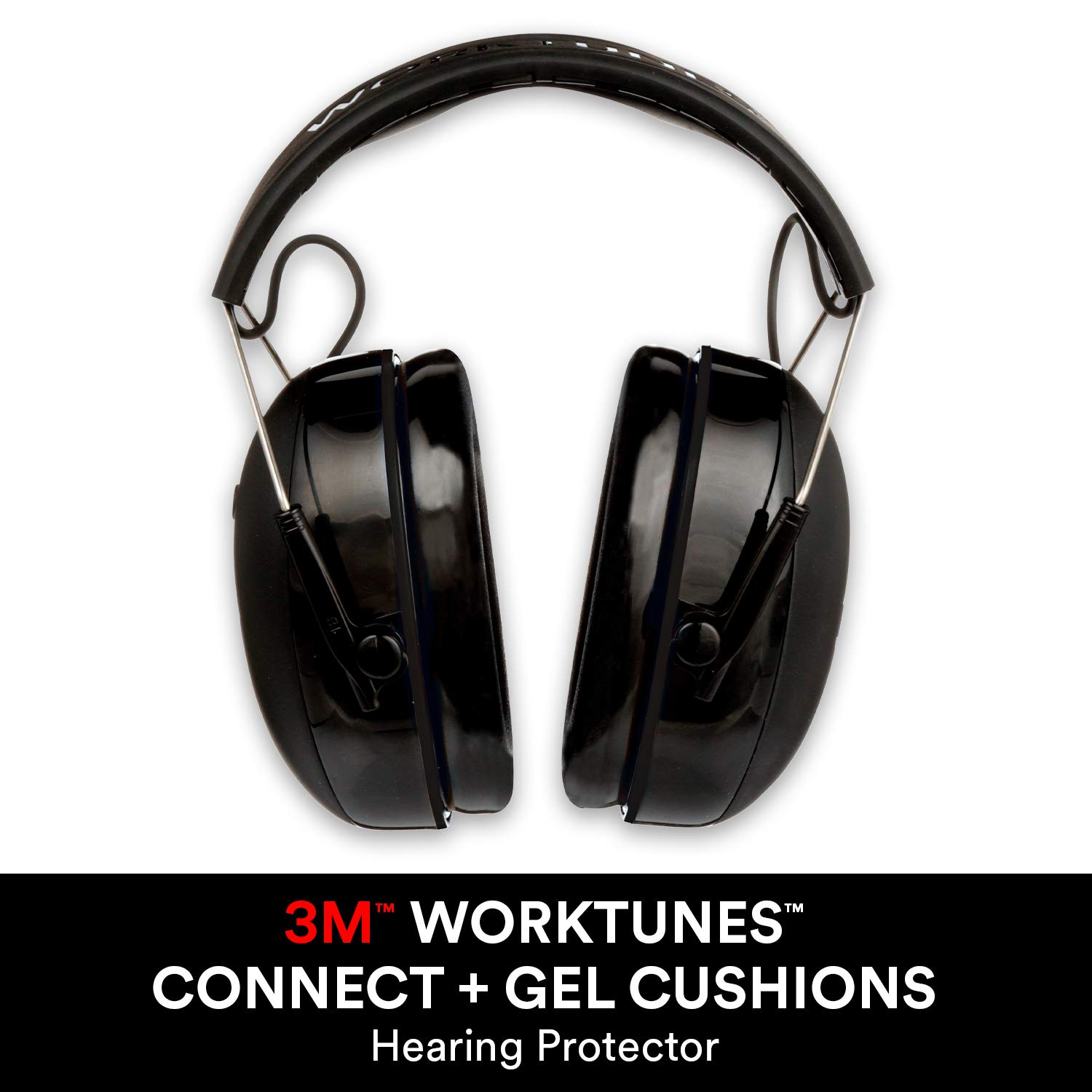 3M WorkTunes Connect + Gel Cushions Wireless Hearing Protector with Bluetooth Technology