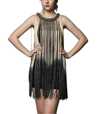 a3445327bf3a Amazon.com: Gatsby Speakeasy Themed New Years Eve Engagement Dinner Party  Dresses Costumes: Clothing