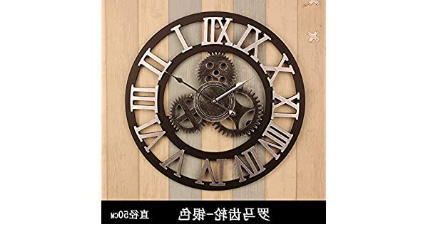 Amazon.com: Y-Hui 14-Inch Antique Clocks Wall Clock Home Bedroom Living Room Round The Clock Mute Wall Table Mounted In 16