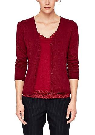 wholesale price sale online new arrivals s.Oliver RED LABEL Damen Klassische Feinstrick-Cardigan Beet ...