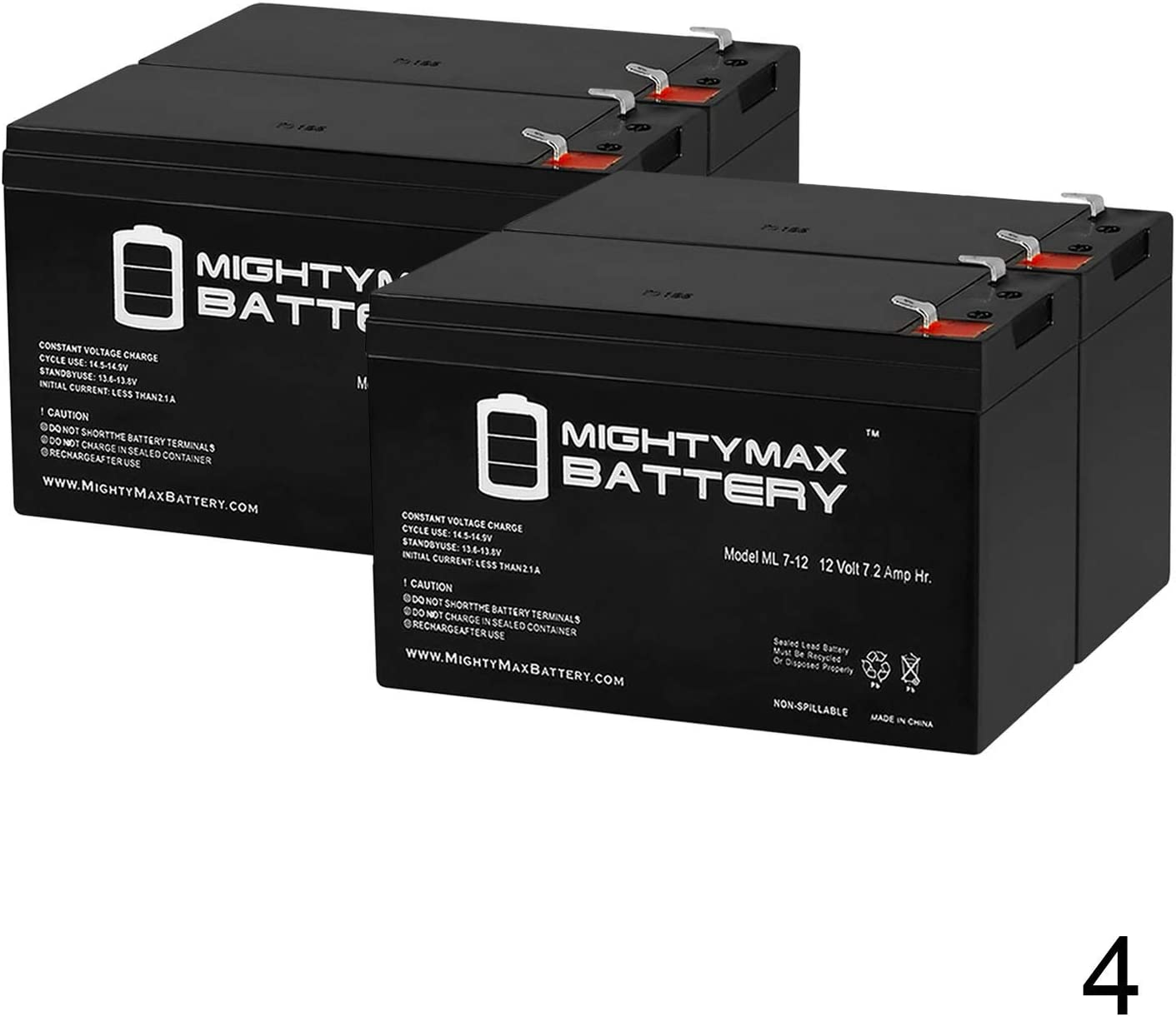 12V 7.2AH Replacement Battery for CyberPower CPS1500AVR UPS - 4 Pack