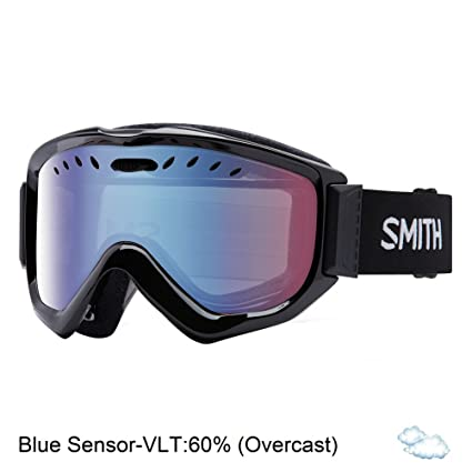 2b398dacf7b Smith Optics Adult Knowledge OTG Snow Goggles Black Frame Blue Sensor Mirror