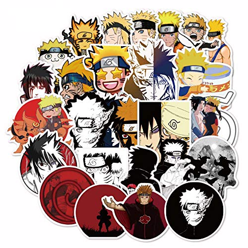 Naruto Laptop Stickers for Kids, 100 Pcs Anime Vinyl Sticker for Water Bottle Nintendo Switch Luggage Skateboard Snowboard Bike Motorcycle Car Bumper, Cute Cartoon Animal Monsters Decal for Children