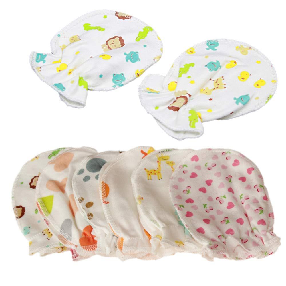 Soft Cotton Anti-scratch Handguard Newborn Unisex Baby Girl Mitten Gloves FREE