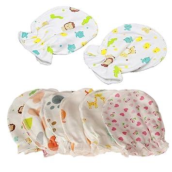 7e86fa2de51f Amazon.com   4 Pairs Newborn Baby Cotton Gloves - Infant Anti ...