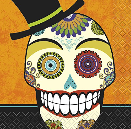 Day of the Dead Halloween Beverage Napkins, 16ct