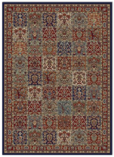 - Concord Global Trading Jewel Collection Panel Red Multi 5x8 Oriental Traditional Design Area Rug (4080)