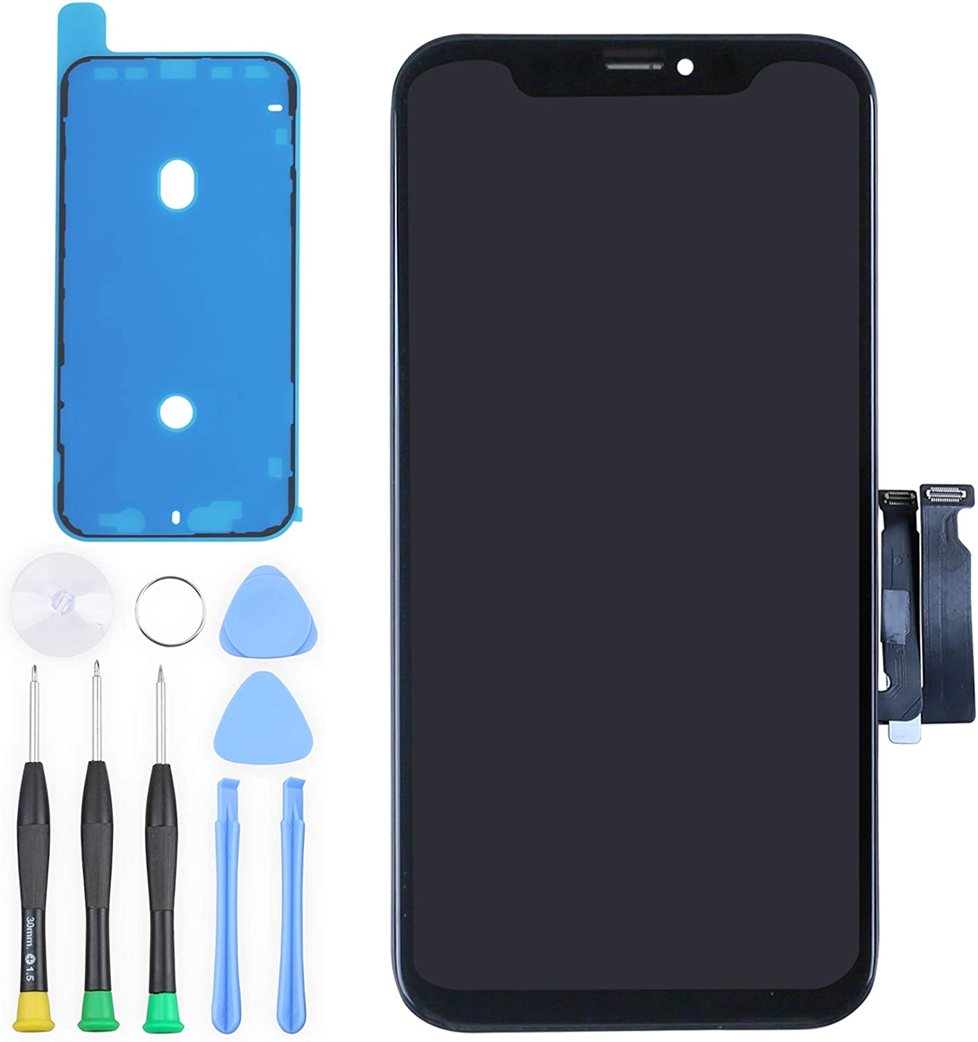 """for iPhone XR Digitizer Screen Replacement - Ayake 6.1"""" LCD Display Touch Screen Assembly with All Repair Tool Kits Compatible Models A1984, A2105, A2106, A2108"""