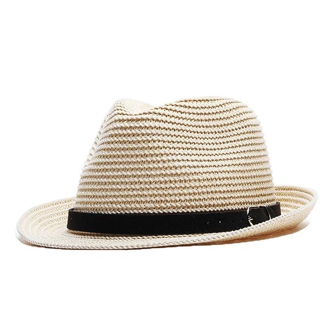 Sombreros Trilby para la Primavera Verano Otoño Niños Hombres Señoras Paja  Sombreros Fedora Respirable Sombrero para el Sol-Caqui  Amazon.es  Ropa y  ... 127d3607280