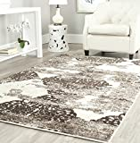 Safavieh Retro Collection RET2866-1379 Abstract Beige and Light Grey Area Rug (3′ x 5′) For Sale