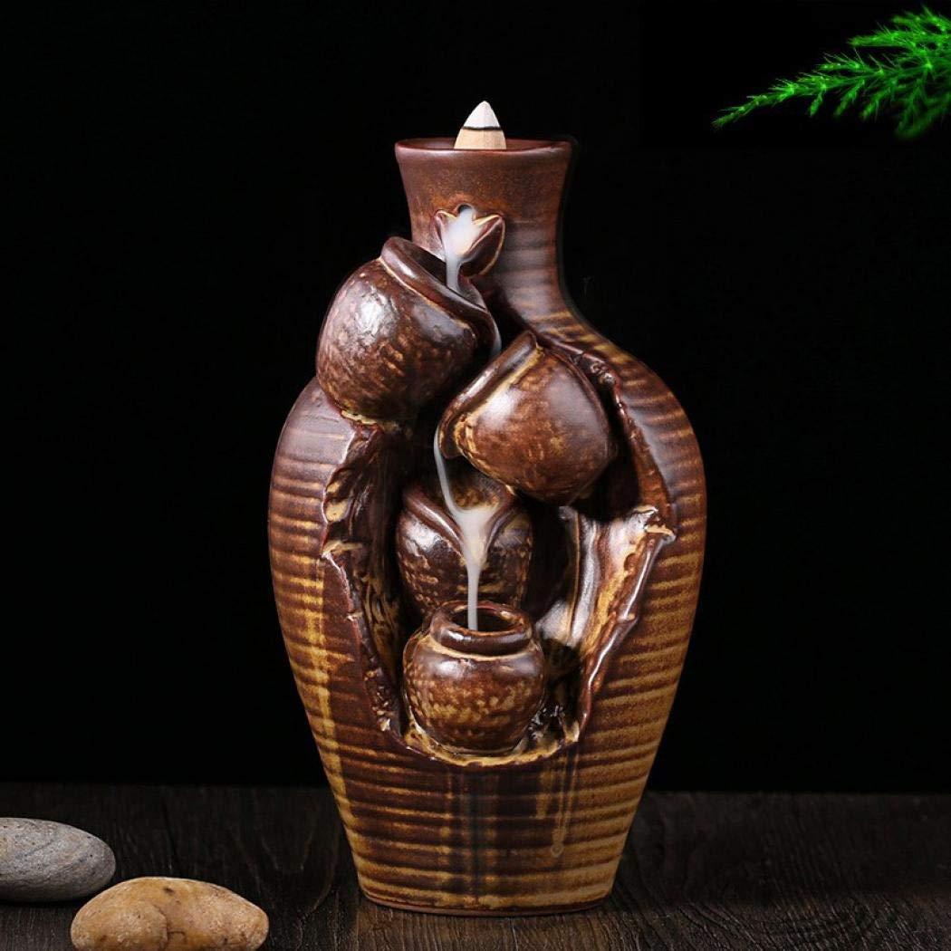 Decorative Bottle Backflow Incense Holder, Home Incense Burner With 10PCs Backflow Incense, Ceramic Incense Holder Incense Burner by YYW