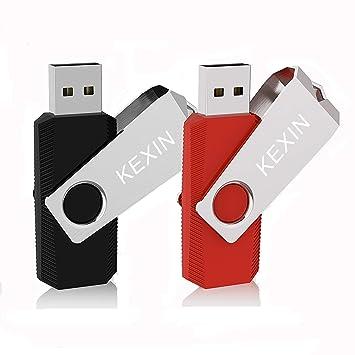 KEXIN 32GB Memoria USB 2.0 Pendrive 32GB Flash Drive Memoria Stick USB Llavero para Computadoras, Tabletas y Otros Dispositivos [2 Unidades] Color de ...