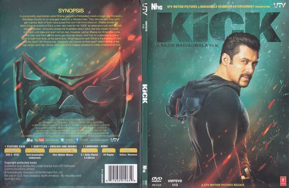 Amazon.com: Kick Hindi DVD Stg: Salman Khan, Jacqueline Fernandez, Randeep  Hooda (Bollywood Indian Film DVD): Movies & TV