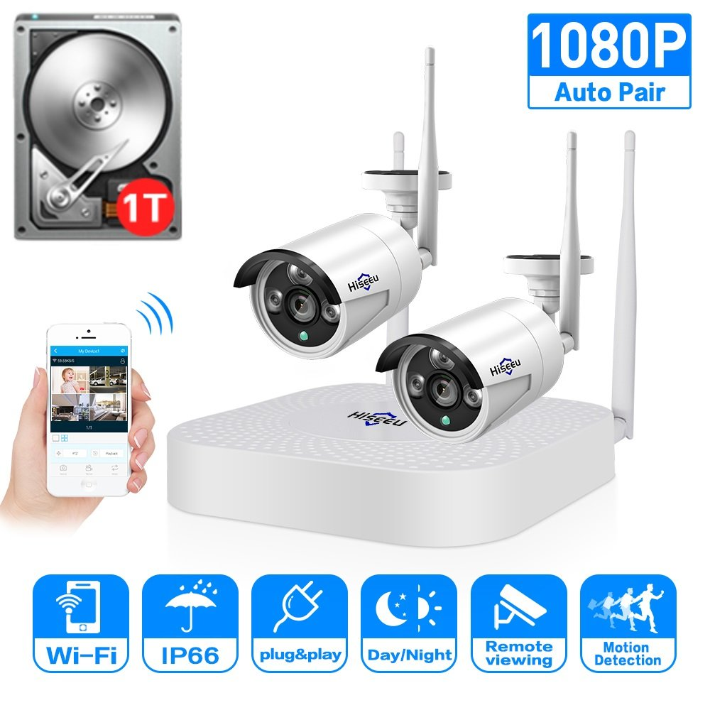 Details about HD Video Wireless Security Camera System,2PCS 1 3MP,  Waterproof Indoor/Outdoor