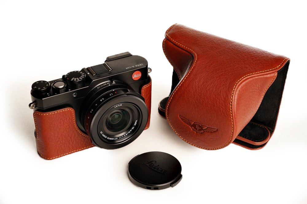 TP LEICA ライカ D-LUX Typ109用本革レンズカバー付カメラケース(電池,SDカード交換可) ブラウン  レンズカバー付ケース&バッテリーケース B01K4PVOGY