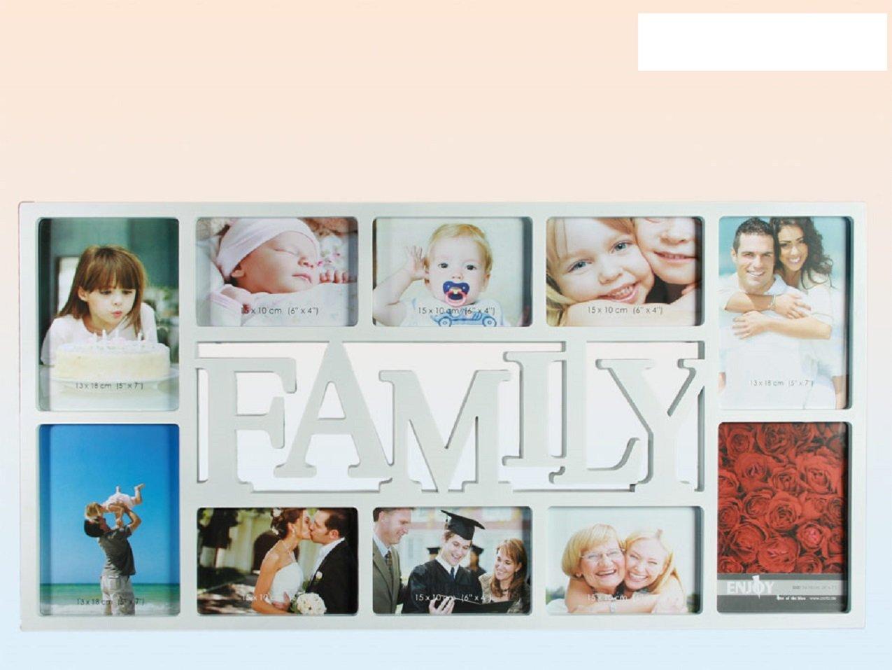 Amazon.de: Fotorahmen Collage Weiß 10 Fotos - 6 Fotos 10x15 und 4 ...