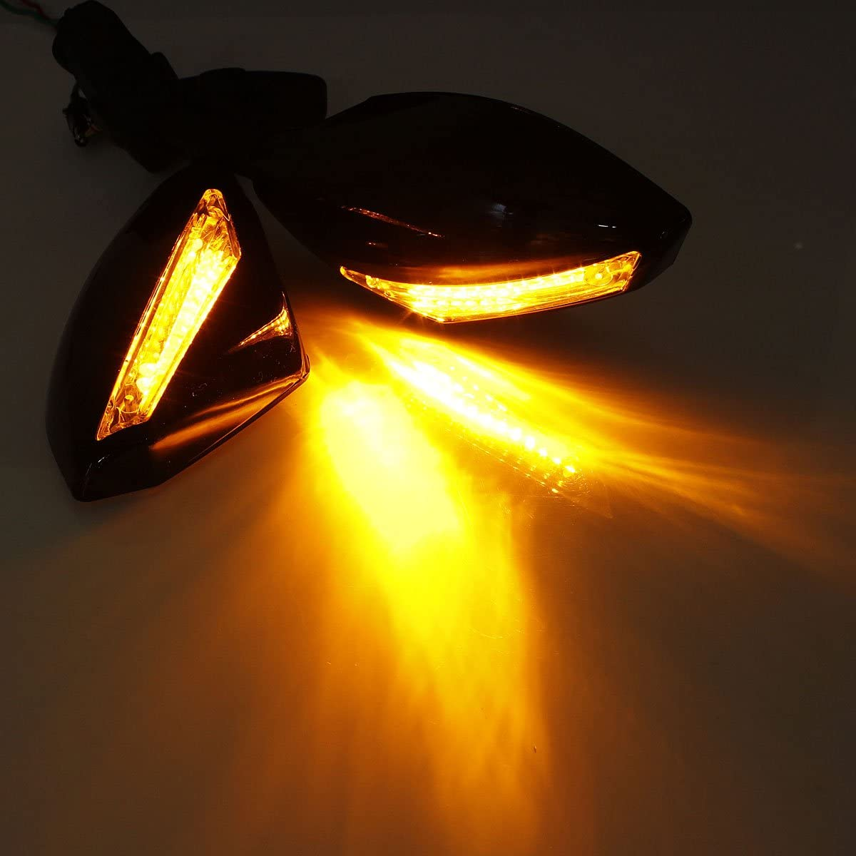 WCHAOEN Motorcycle LED Turn Signal Side Mirrors 180 Degree Adjustable For Honda CBR600 F4 F4i 900 929 954 RC51 New car light