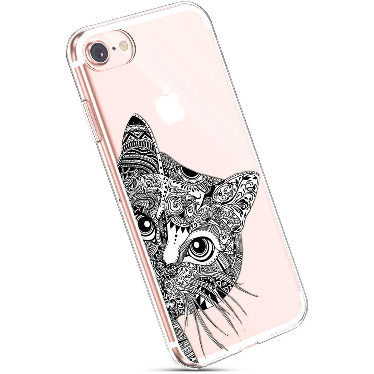 iPhone 7 Silikon H/ülle Ysimee iPhone 8 H/ülle Transparent UltraD/ünn HandyH/ülle Silikon TPU Case Cover Durchsichtig Soft Gel Cover Sto/ßfest EINWEG Gummi Sto/ßd/ämpfend SilikonH/ülle Elefant