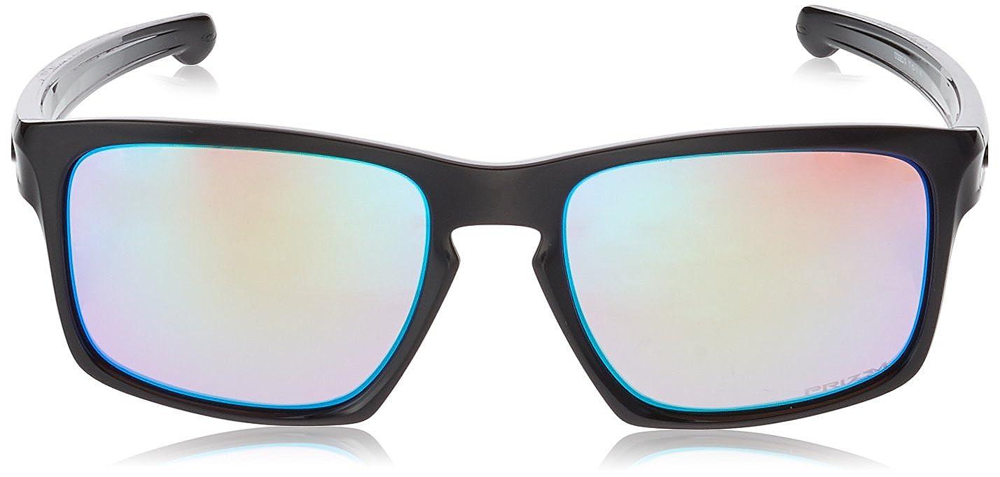 4304338ea2 Amazon.com  Oakley Mens Sunglasses Black Green - Polarized - 57mm  Clothing