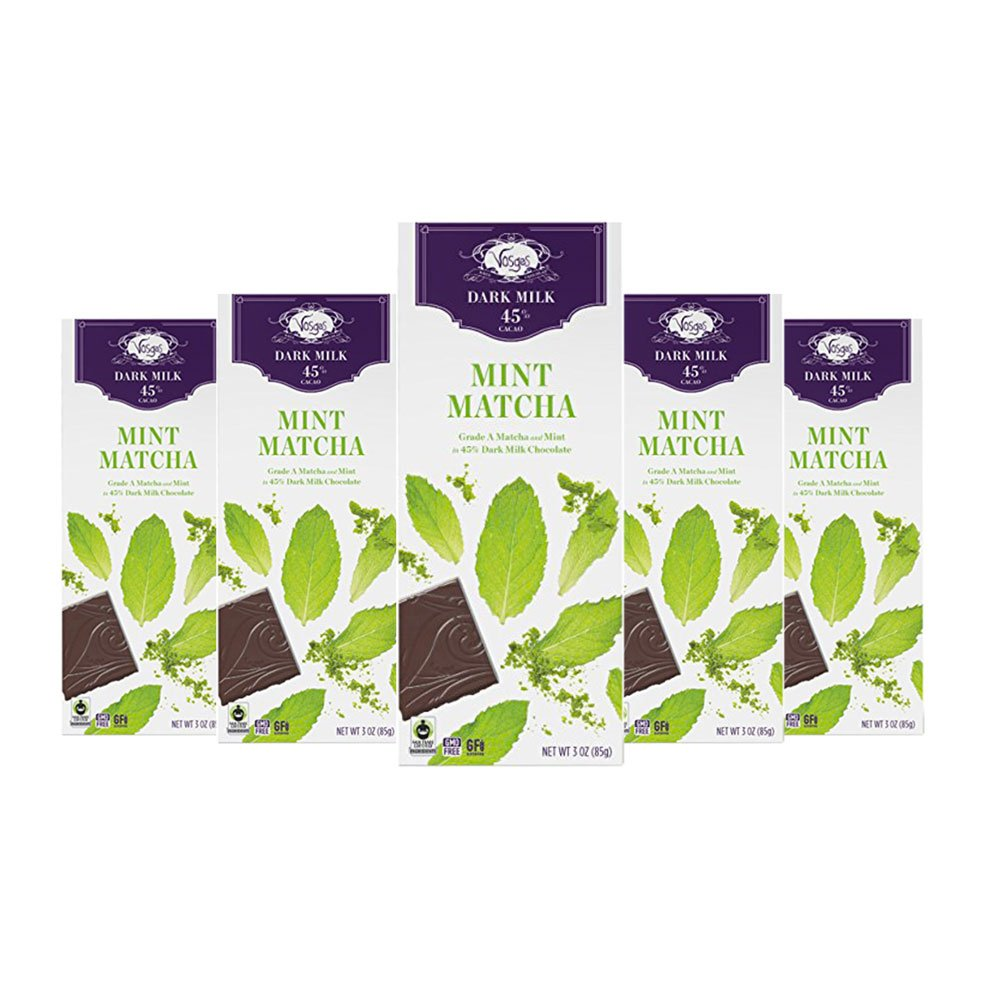 Amazon.com : Vosges Haut-Chocolat Matcha Mint Chocolate, Pack of 12, 3 oz Bars : Grocery & Gourmet Food
