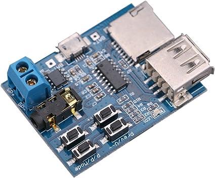 KENTOP Lector de tarjetas SD, módulo amplificador, decodificador y ...
