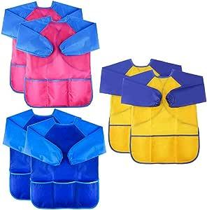 SNOWINSPRING Camisa de Arte Delantal Impermeable de Arte para ...