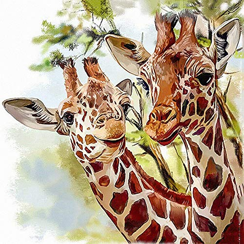 (DIY 5D Diamond Painting Kit for Adult Kids, Full Drill Animal Giraffe Embroidery Dotz for Home Wall Decor Painting Arts Craft)