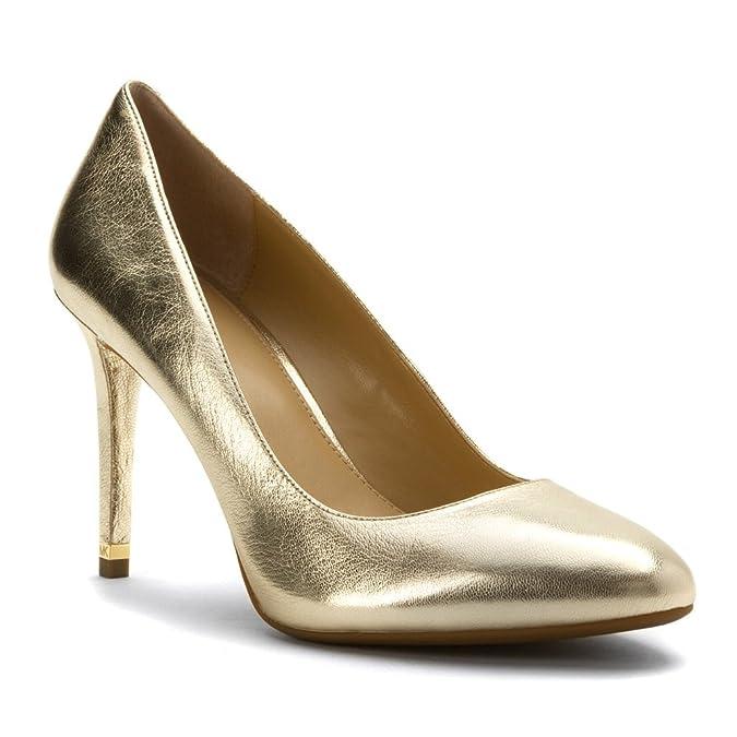 Michael Kors Michael Women's Ashby Flex Pump Pale Gold Metallic Nappa 6 M Zq2iNd