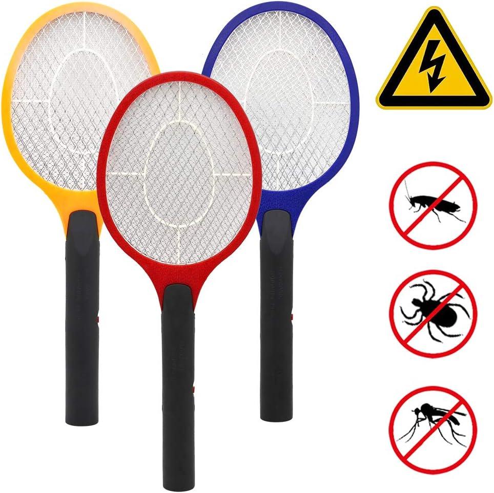 3 Farben doppeltes Schutzgitte EXTRA STARK  Elektrische Fliegenklatsche Elektro